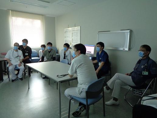 心電図カンファレンスの写真