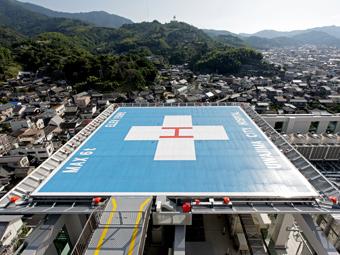 ヘリポート(病院屋上)の写真